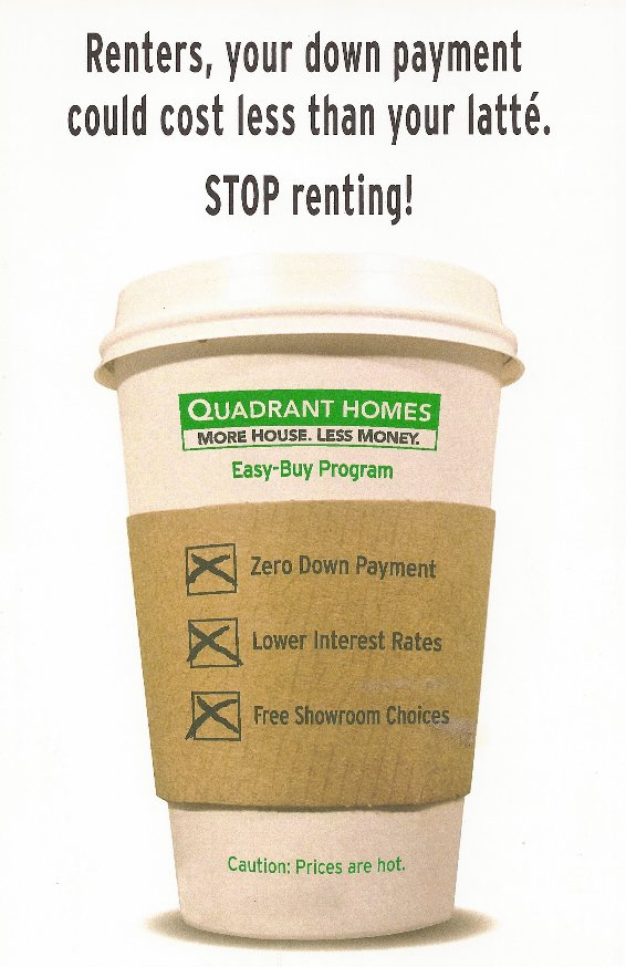 Your down payment could cost less than your latte