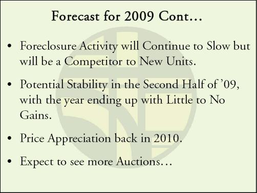 Gardner 2009 Forecast