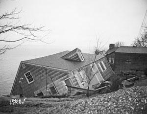 Landslide at 2445 Perkins Lane, 1954