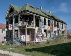 Detroit Art House by Flickr user Bob Jagendorf