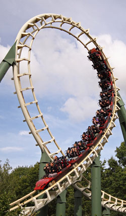 "Roller Coaster ""Python"" Theme Park Efteling - The Netherlands. by Flickr user Dirk-Jan Kraan"