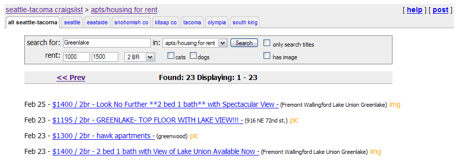 How To Use Craigslist Rss To Find A Great Rental Seattle Bubble