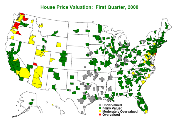 Global Insight: Home Valuations 2008 Q1