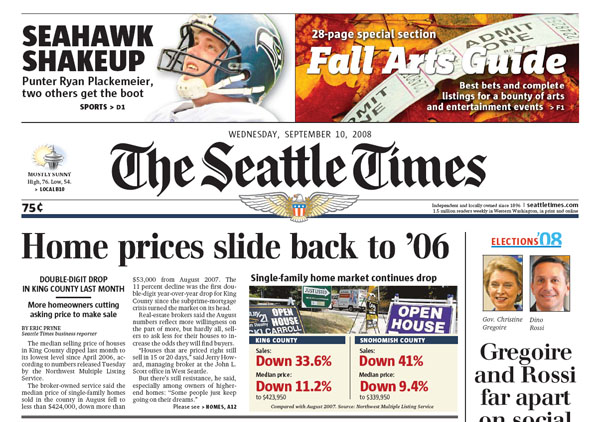 Home Prices Slide Back to '06