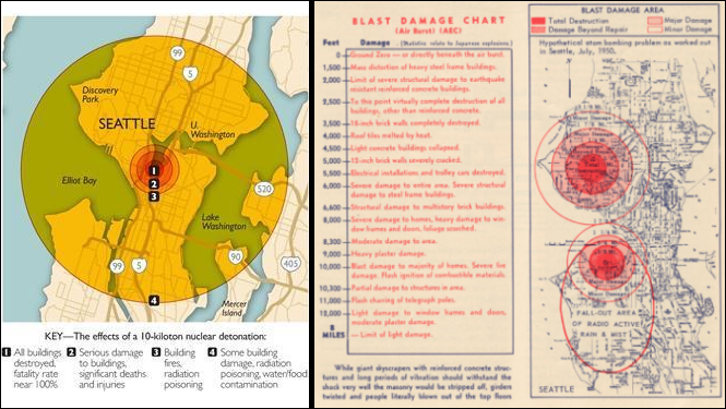 Damage Effects Of An Atom Bomb Explosion: 2009 & 1950