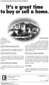 NAR, September 2006: It's a great time to buy or sell a home.