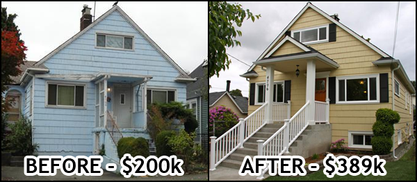 4706 S Orcas St: Before & After