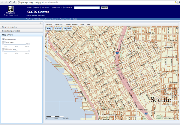King County Parcel Map New King County Parcel Search Improves Map Experience • Seattle Bubble