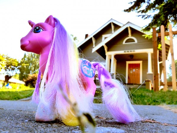Happy Thanksgiving from Crystal, Seattle Bubble's Pink Pony Mascot