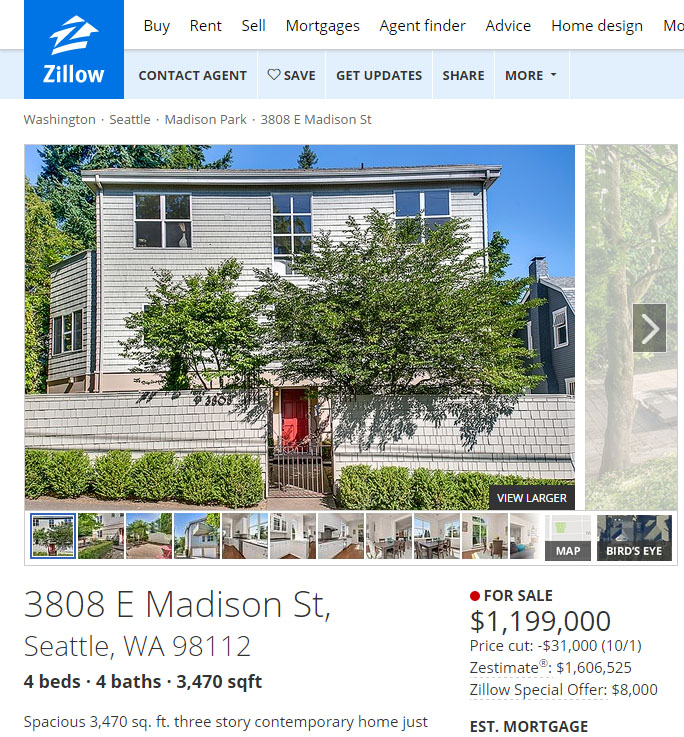 Zillow Can't Even Get the Listing Details Right on CEO Spencer ... on