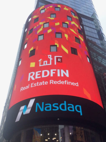 Redfin in Times Square, photo by Arthur Patterson